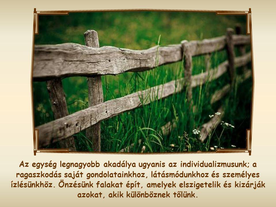 A Szentlélek mindenekelőtt a szív és a gondolkodásmód egységét teremtette meg a hívők között, és a testvéri közösség dinamizmusával segítette őket, ho