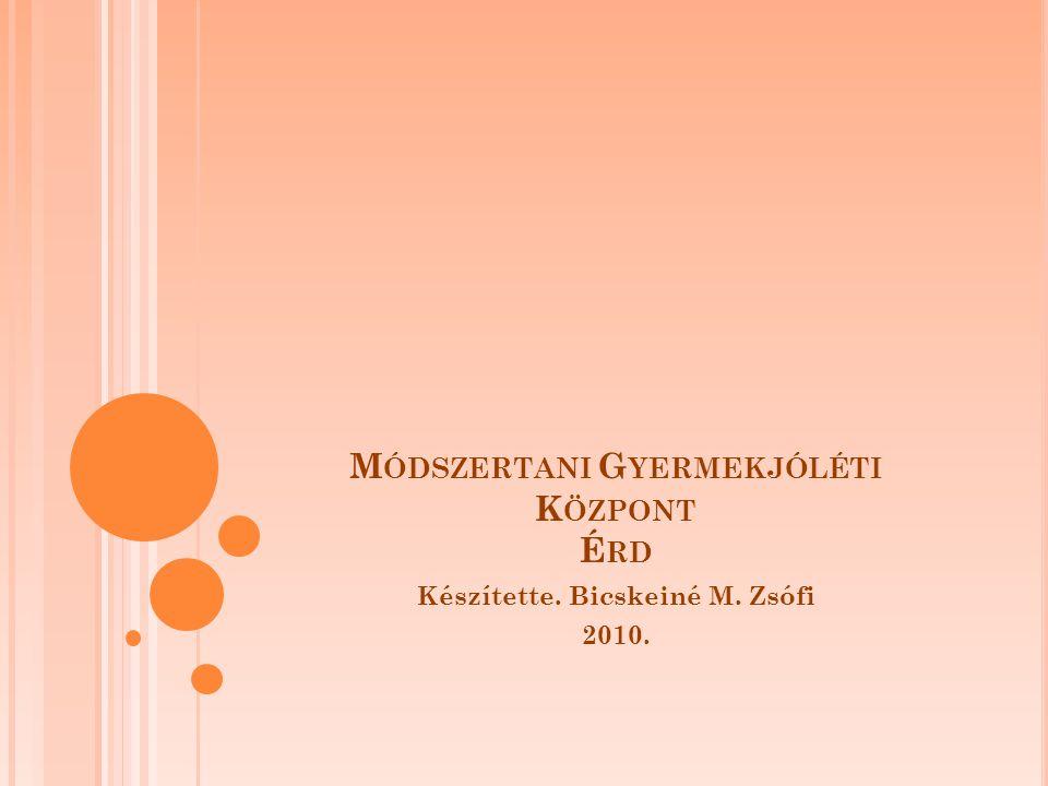 M ÓDSZERTANI G YERMEKJÓLÉTI K ÖZPONT É RD Készítette. Bicskeiné M. Zsófi 2010.