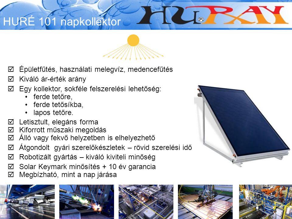  Épületfűtés, használati melegvíz, medencefűtés  Kiváló ár-érték arány  Egy kollektor, sokféle felszerelési lehetőség: ferde tetőre, ferde tetősíkba, lapos tetőre.
