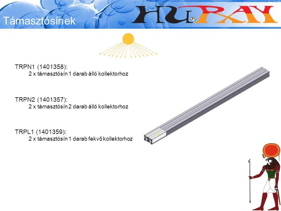 Támasztósínek TRPN1 (1401358): 2 x támasztósín 1 darab álló kollektorhoz TRPN2 (1401357): 2 x támasztósín 2 darab álló kollektorhoz TRPL1 (1401359): 2 x támasztósín 1 darab fekvő kollektorhoz