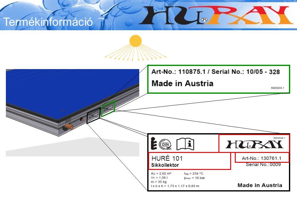 Termékinformáció Customer Logo HURÉ 101 Síkkollektor