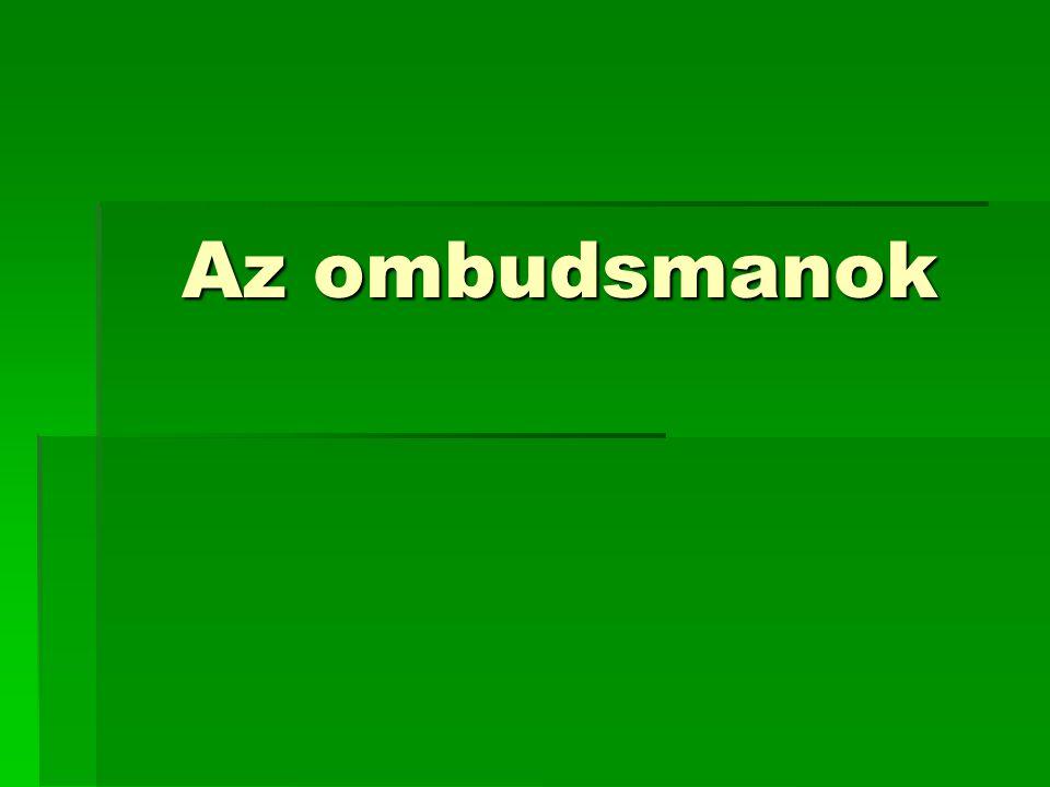 Az ombudsmanok