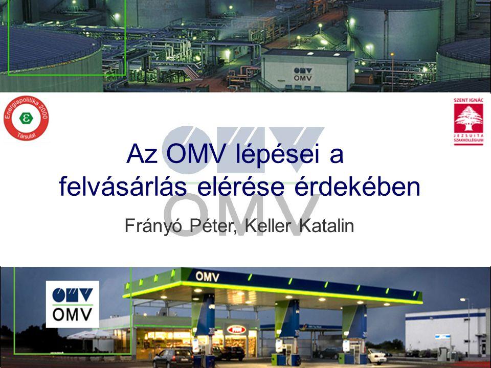 Az OMV lépései a felvásárlás elérése érdekében Frányó Péter, Keller Katalin