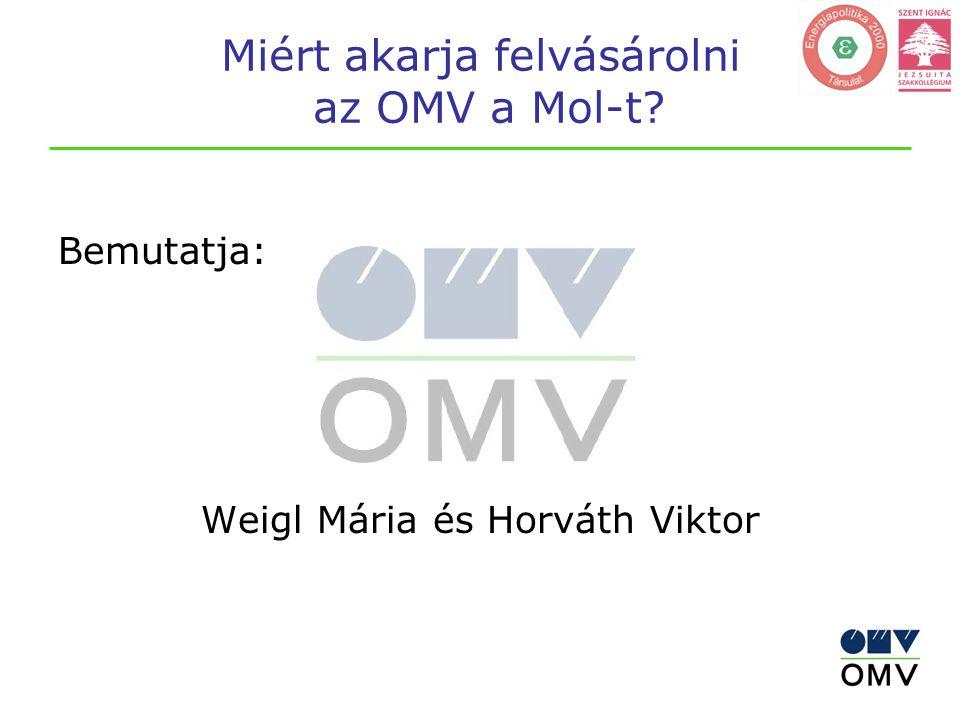 Miért akarja felvásárolni az OMV a Mol-t Bemutatja: Weigl Mária és Horváth Viktor