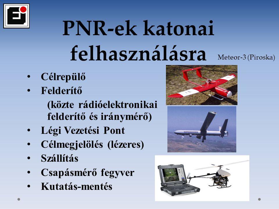 A PNR-ek közszolgálati alkalmazása Katasztrófavédelmi (tűzoltás, kárfelmérés, kutatás, szállítás) Rendőri (bűnüldözési) Határőrizeti Adóhatósági Nitrofirex