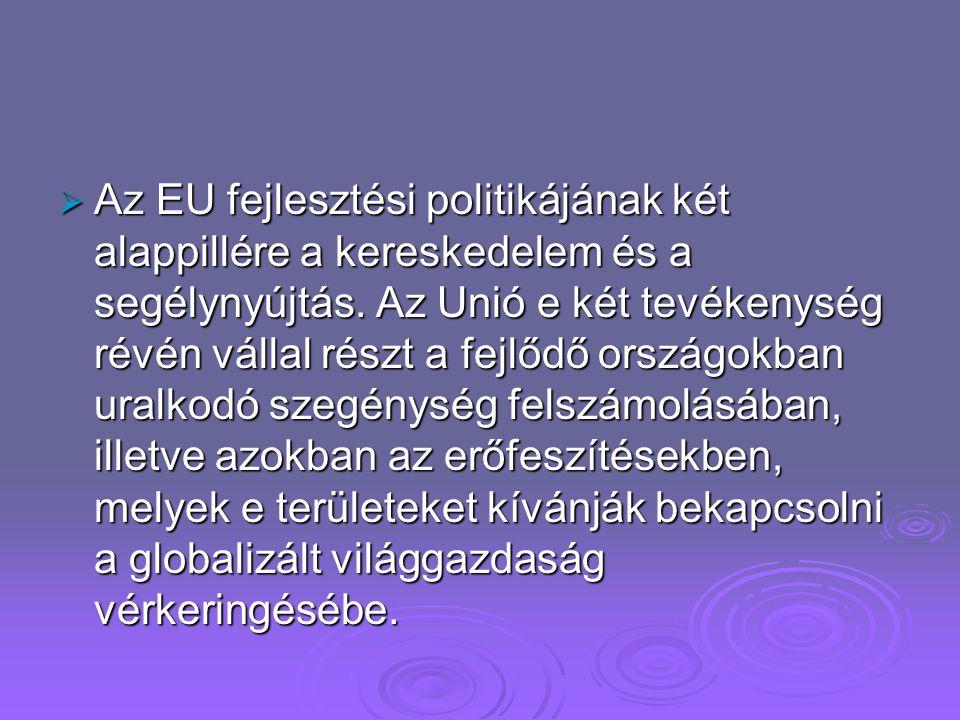 Szolidaritás az Európai Unióban.  A szegény országok támogatására fordított pénz több mint fele az Európai Unióból és annak tagállamaiból származik.