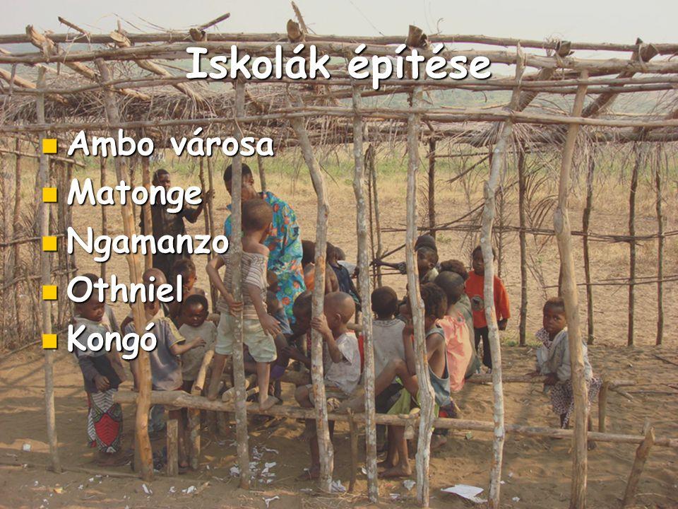 Iskolák építése Ambo városa Ambo városa Matonge Matonge Ngamanzo Ngamanzo Othniel Othniel Kongó Kongó
