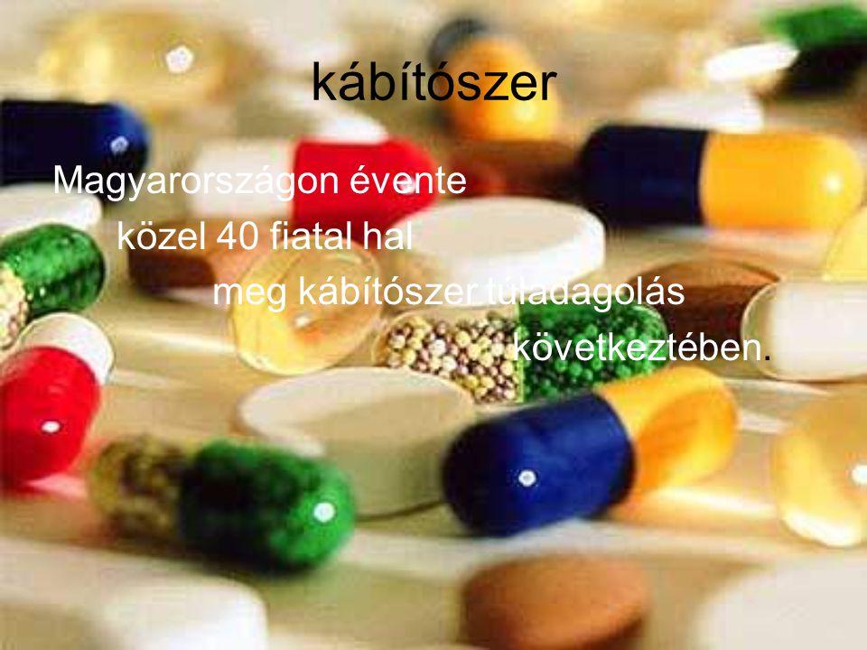 kábítószer Magyarországon évente közel 40 fiatal hal meg kábítószer túladagolás következtében.