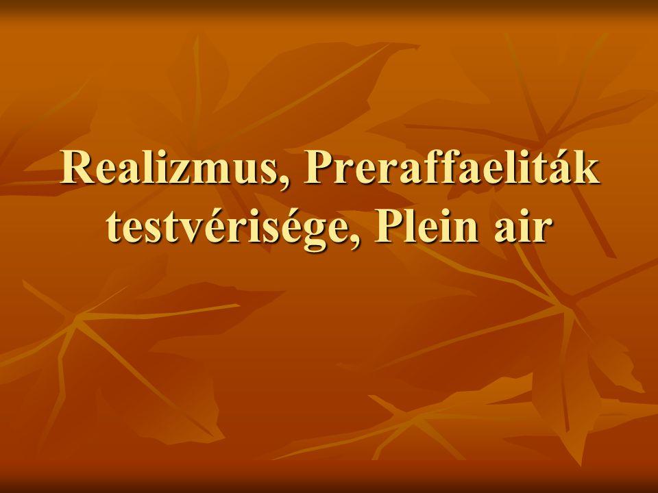 Realizmus, Preraffaeliták testvérisége, Plein air