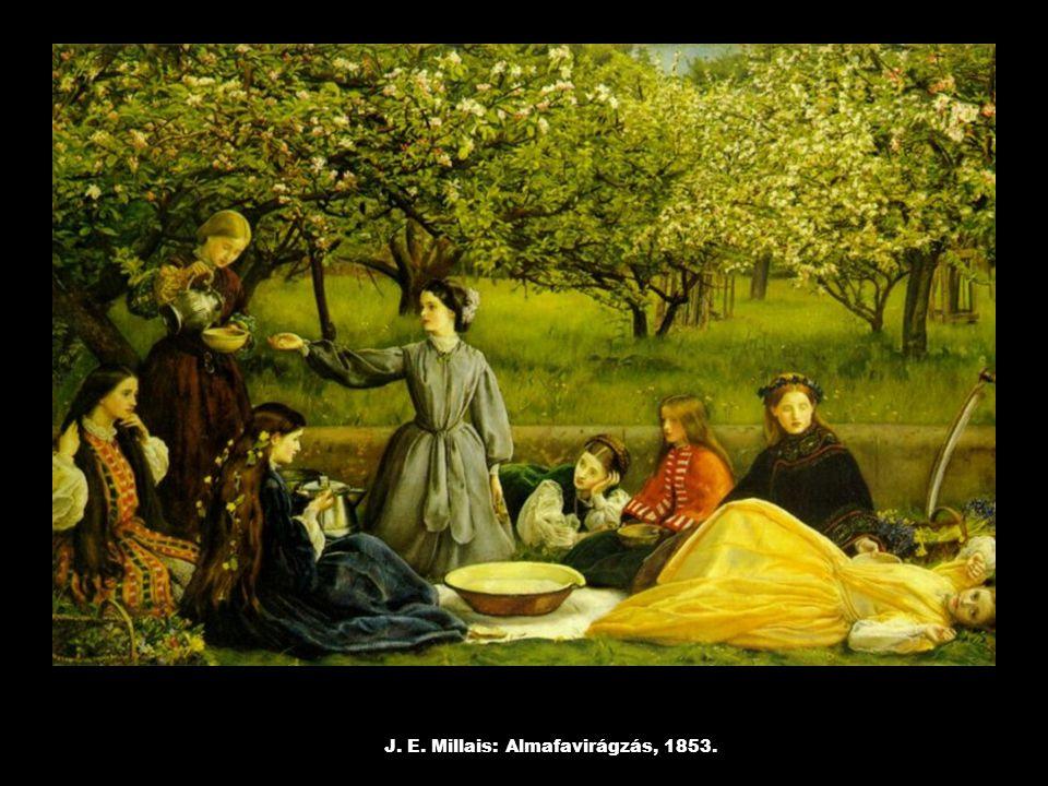 J. E. Millais: Almafavirágzás, 1853.