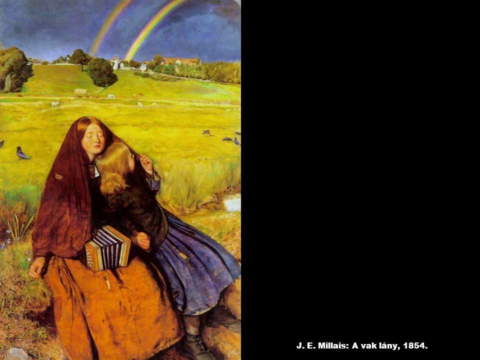 J. E. Millais: A vak lány, 1854.