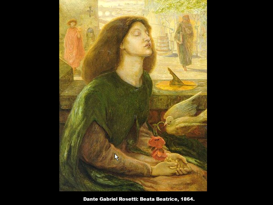 Dante Gabriel Rosetti: Beata Beatrice, 1864.