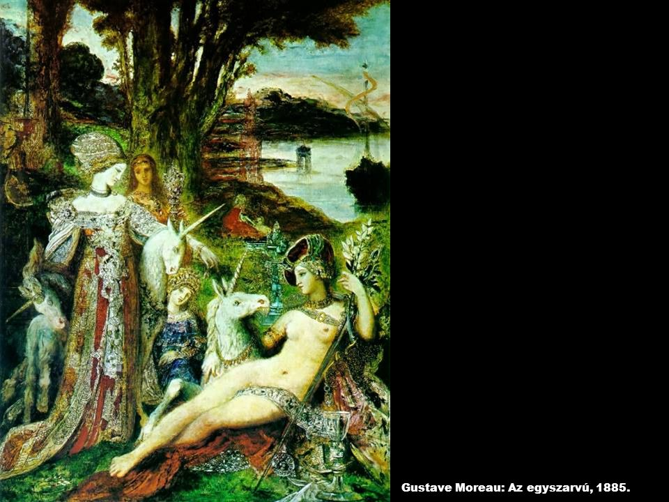 Gustave Moreau: Az egyszarvú, 1885.