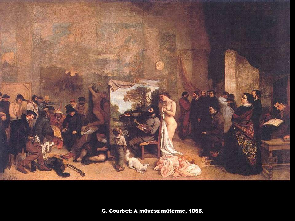 G. Courbet: A művész műterme, 1855.