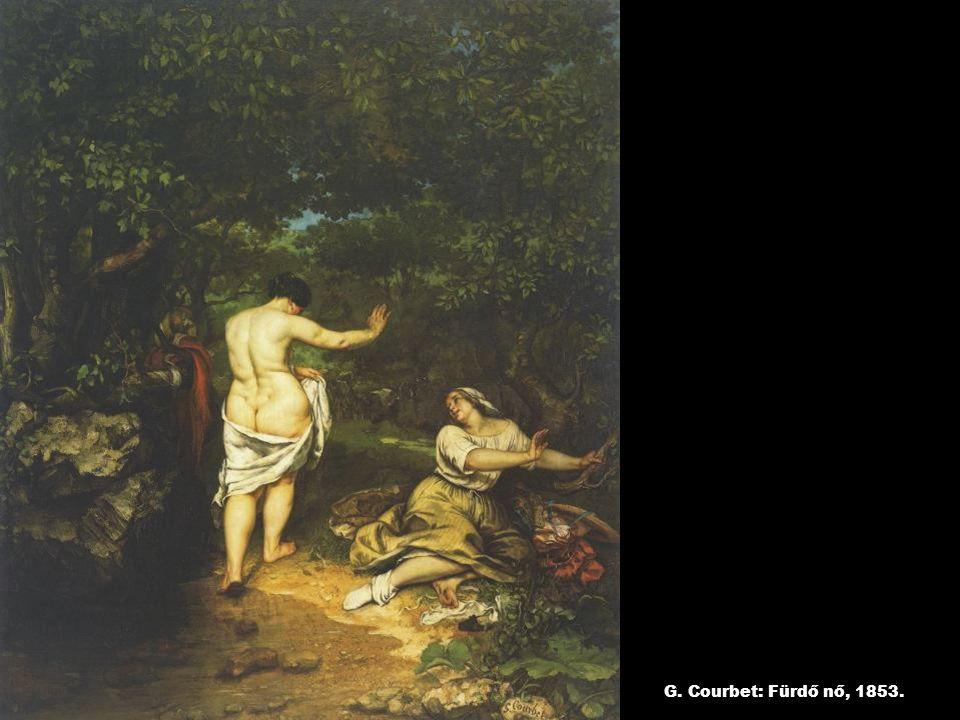 G. Courbet: Fürdő nő, 1853.