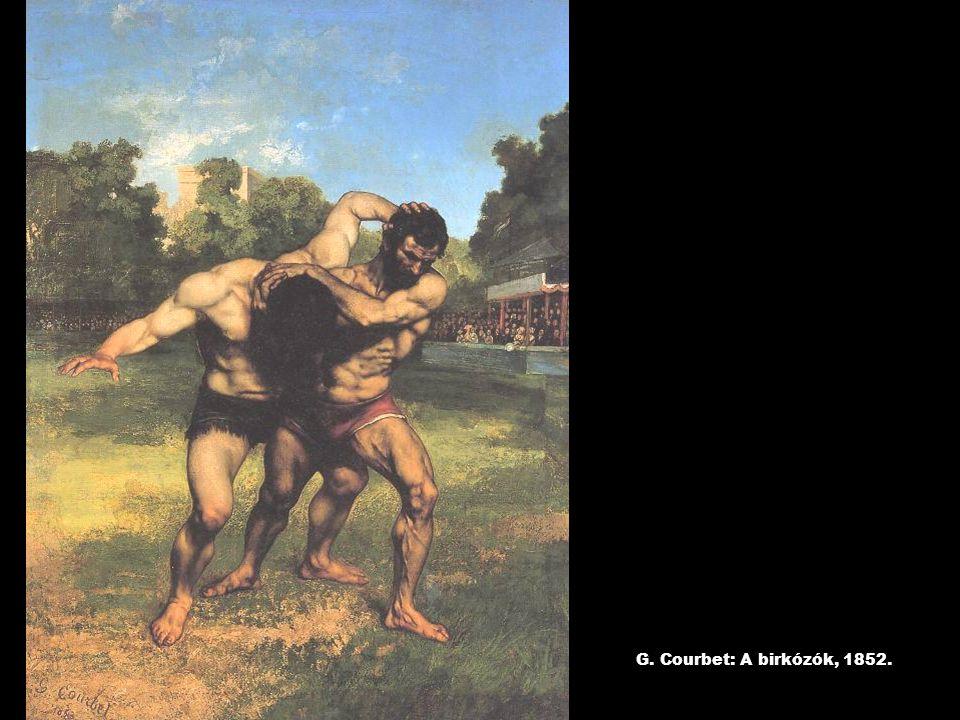 G. Courbet: A birkózók, 1852.
