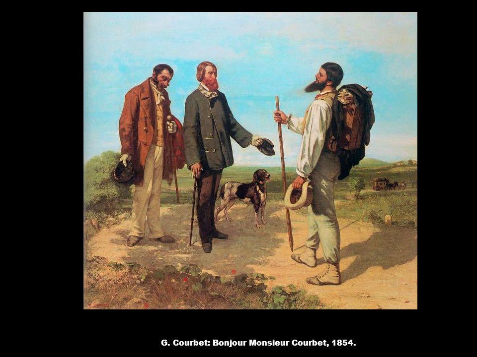 G. Courbet: Bonjour Monsieur Courbet, 1854.