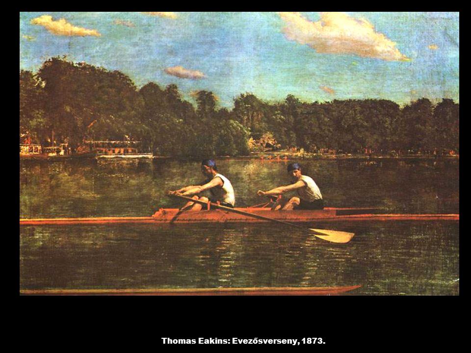Thomas Eakins: Evezősverseny, 1873.