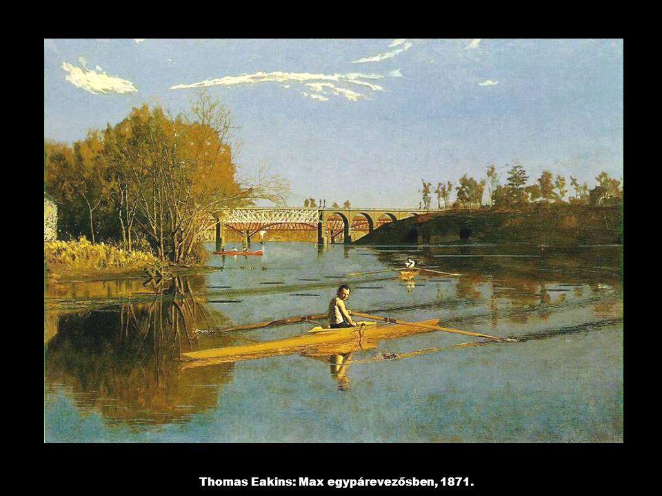 Thomas Eakins: Max egypárevezősben, 1871.