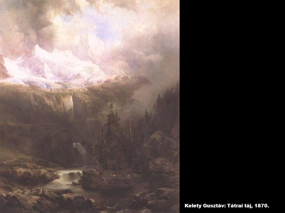 Kelety Gusztáv: Tátrai táj, 1870.