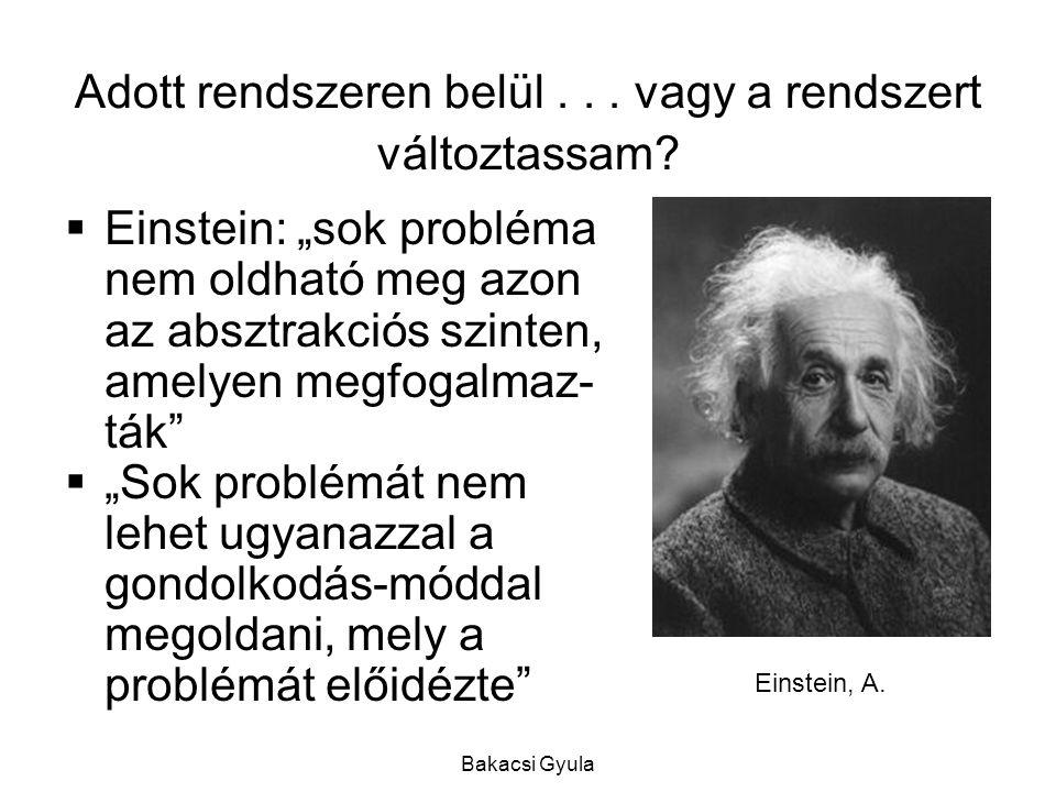 Bakacsi Gyula Adott rendszeren belül...vagy a rendszert változtassam.