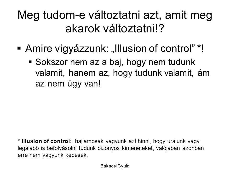 Bakacsi Gyula Ha nem......