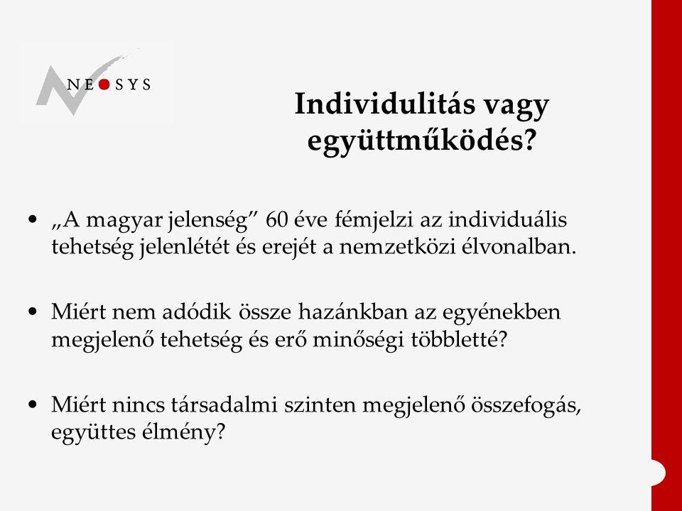 Individulitás vagy együttműködés.