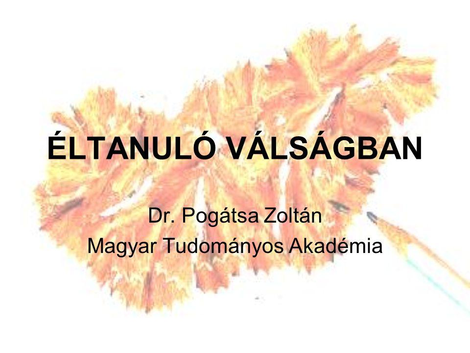 ÉLTANULÓ VÁLSÁGBAN Dr. Pogátsa Zoltán Magyar Tudományos Akadémia