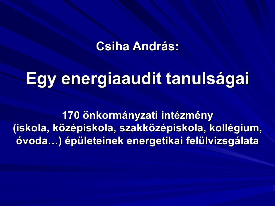 Az energetikai felülvizsgálat fő célja volt:  Az intézmények épületeinek teljes energiaellátása, a megfelelő komfort-, világítás-, technológiai igények kielégítése biztonságos üzemvitel mellett, a lehető legkevesebb primer energia felhasználásával történjen.