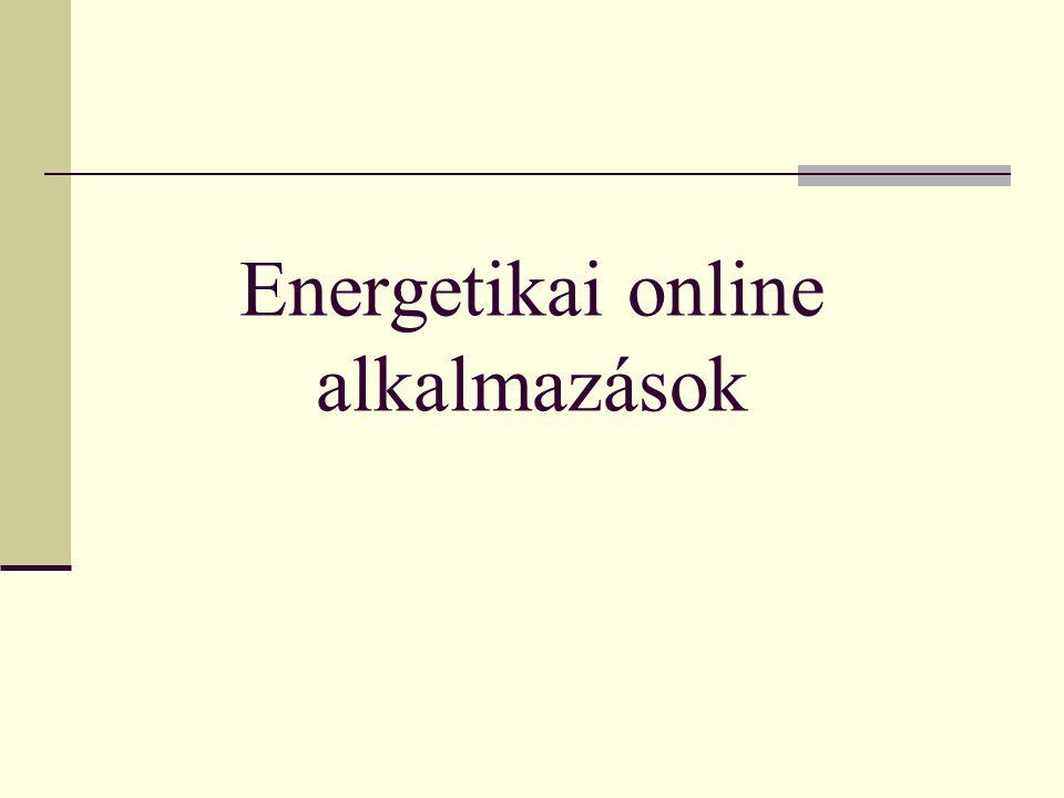 Energetikai online alkalmazások