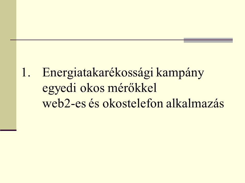 1.Energiatakarékossági kampány egyedi okos mérőkkel web2-es és okostelefon alkalmazás