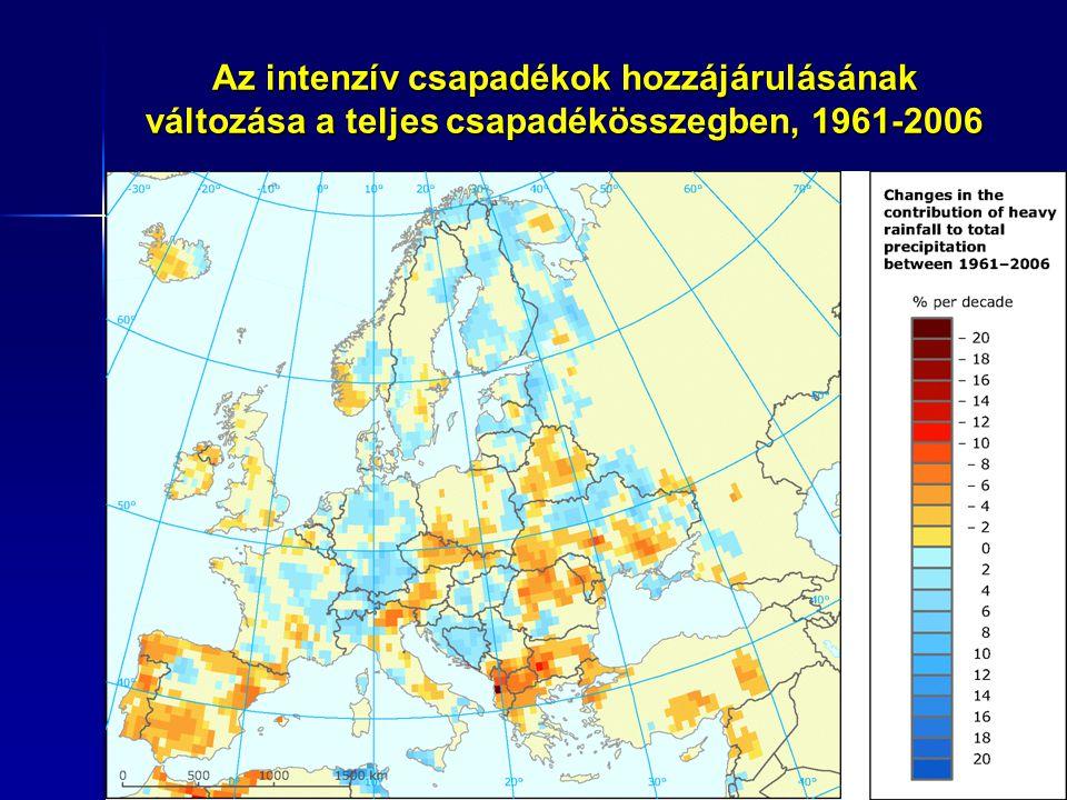 A meteorológiai vízmérleg változása, 1975-2007