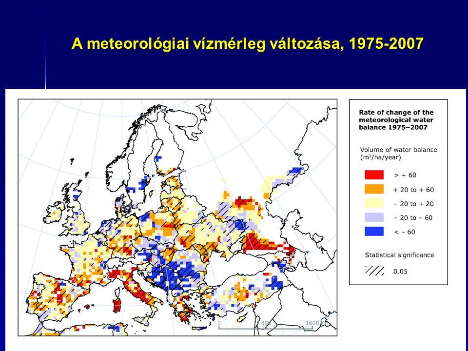 Tengerszint változás Európában, 1992 - 2007 Műholdas adatok; trendek, mm/year