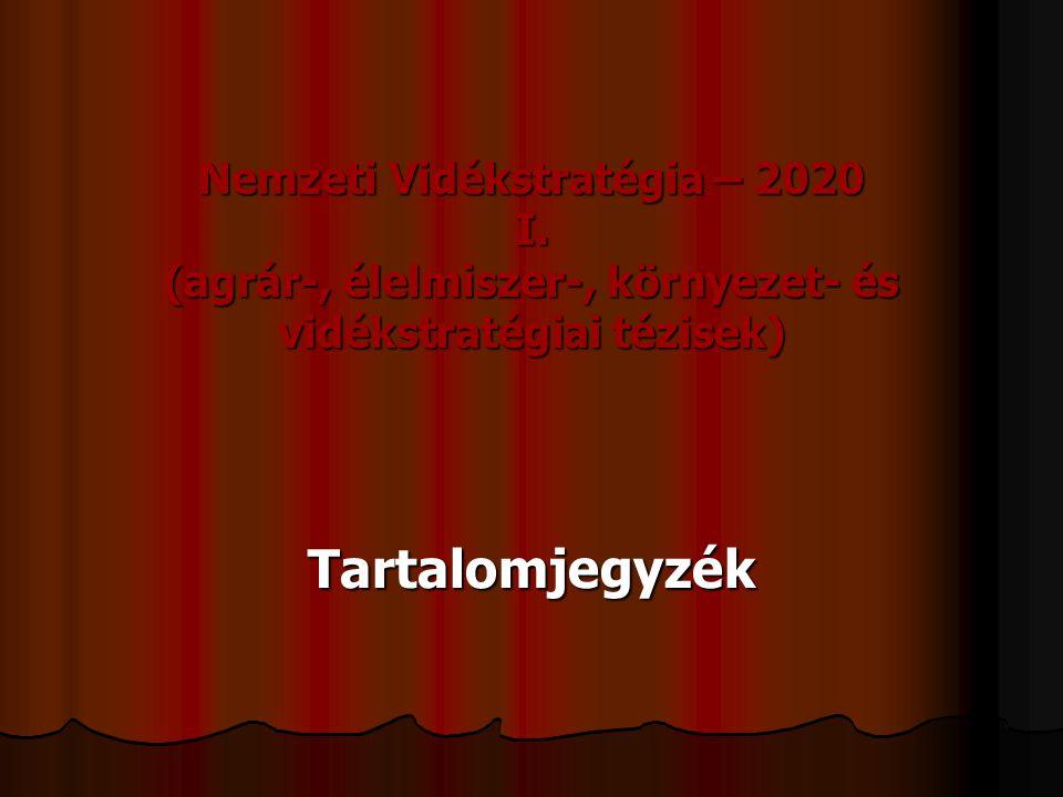 Nemzeti Vidékstratégia – 2020 I.