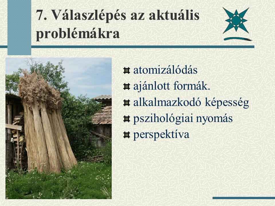7. Válaszlépés az aktuális problémákra atomizálódás ajánlott formák.