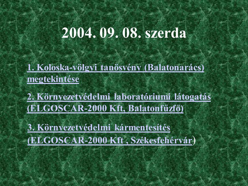 A terepi gyakorlat munkanaplószerű összefoglalása Gál Brigitta, III. éves környezetkutató hallgató Környezetföldtani gyakorlat 2004.