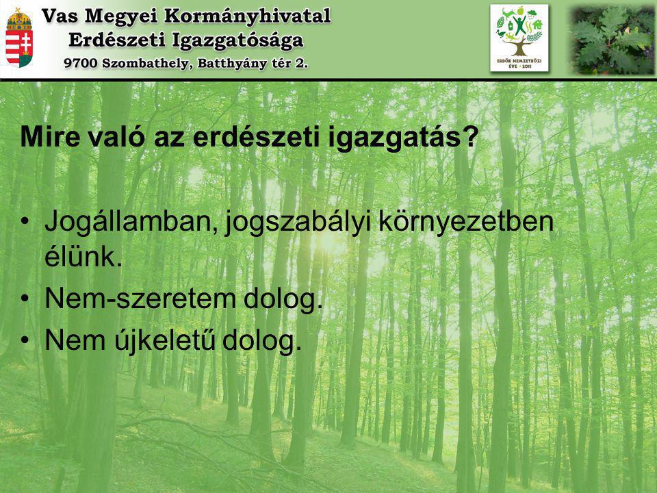Mire való az erdészeti igazgatás.Jogállamban, jogszabályi környezetben élünk.