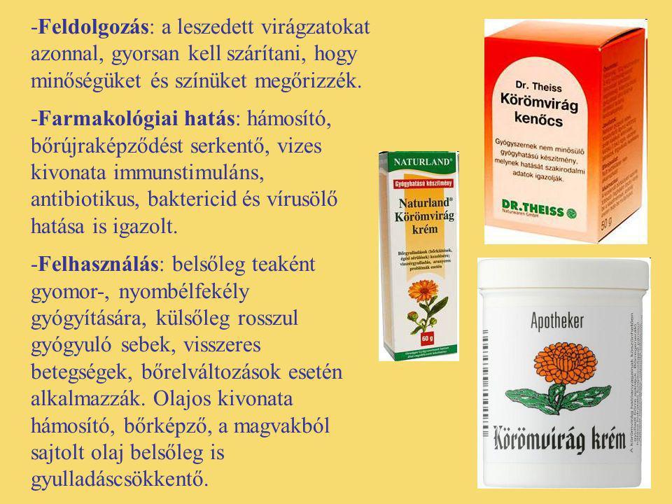 Citromfű (Melissa officinalis) -Egyéb nevei: kerti méhfű, citromszagú melissza, mézfű, méregnyomófű -Család: Lamiaceae -Drog: Melissae herba, Melissae folium, Aetheroleum melissae -Hatóanyag: illóolaj (citrál, citronellál, geraniol és linalool), rozmaring- és más fenolkarbonsavak, triterpének, flavonoidok.