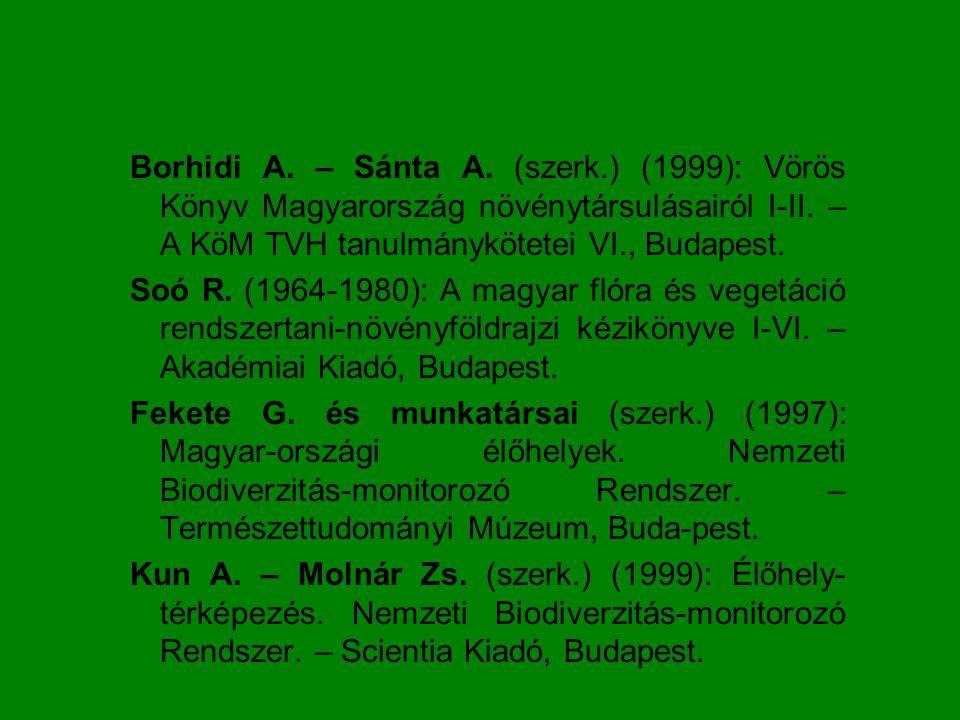 Társulástan története Formációk felismerése – 19.