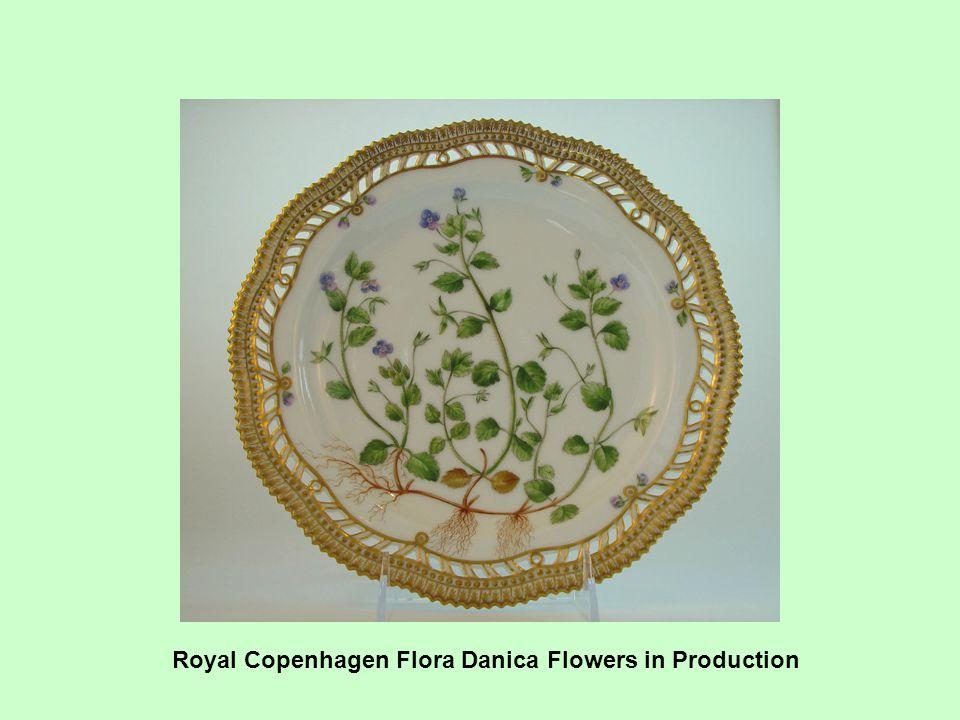 Royal Copenhagen Flora Danica Flowers in Production