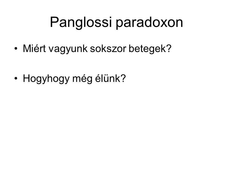 Panglossi paradoxon Miért vagyunk sokszor betegek? Hogyhogy még élünk?