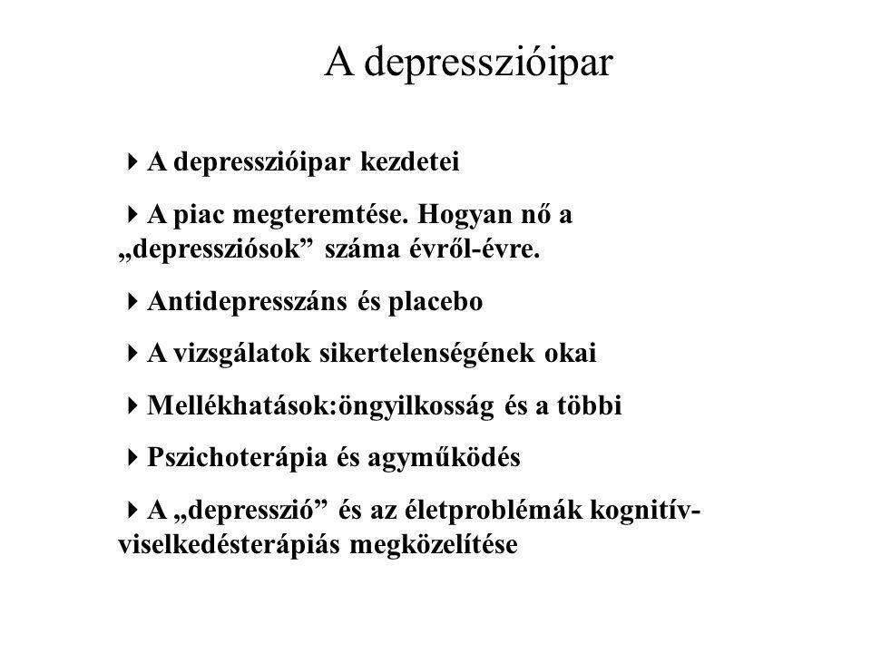 A depresszióipar  A depresszióipar kezdetei  A piac megteremtése.
