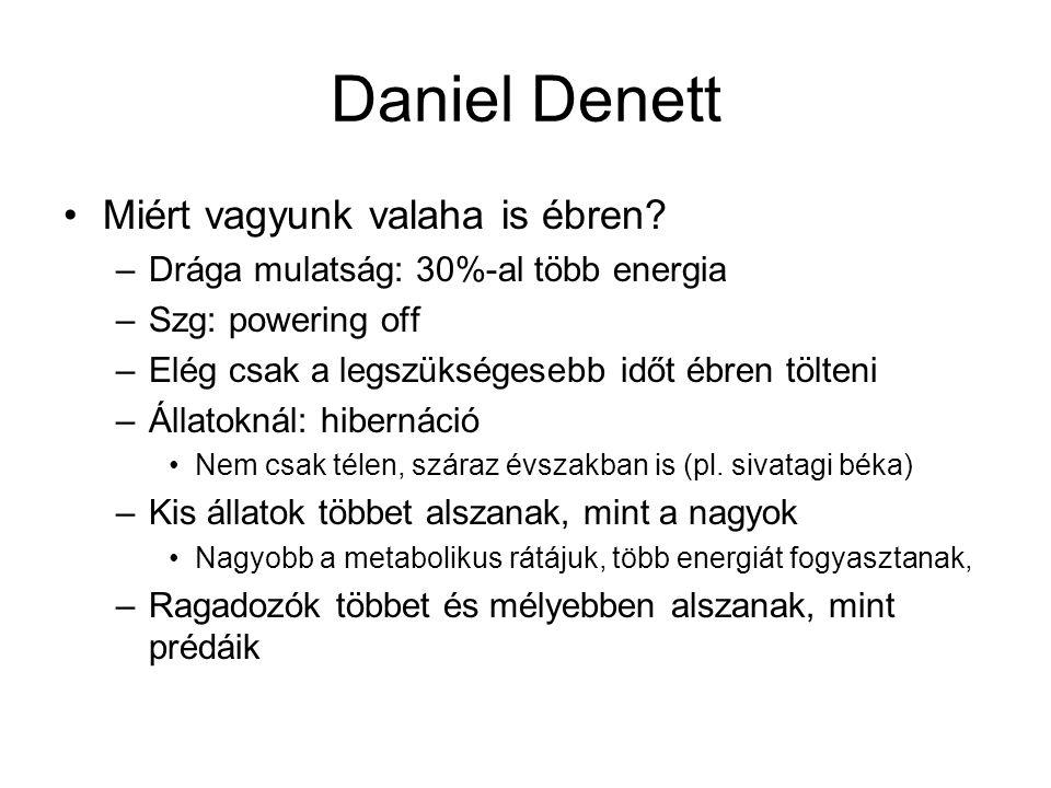 Daniel Denett Miért vagyunk valaha is ébren.