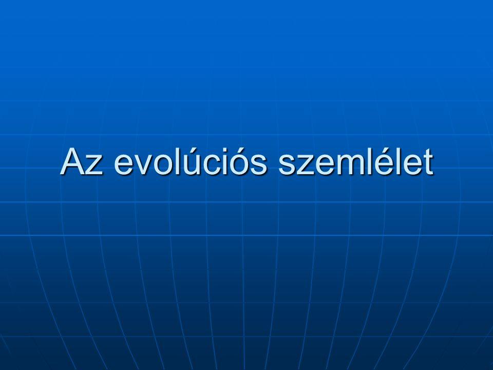 Az evolúciós szemlélet