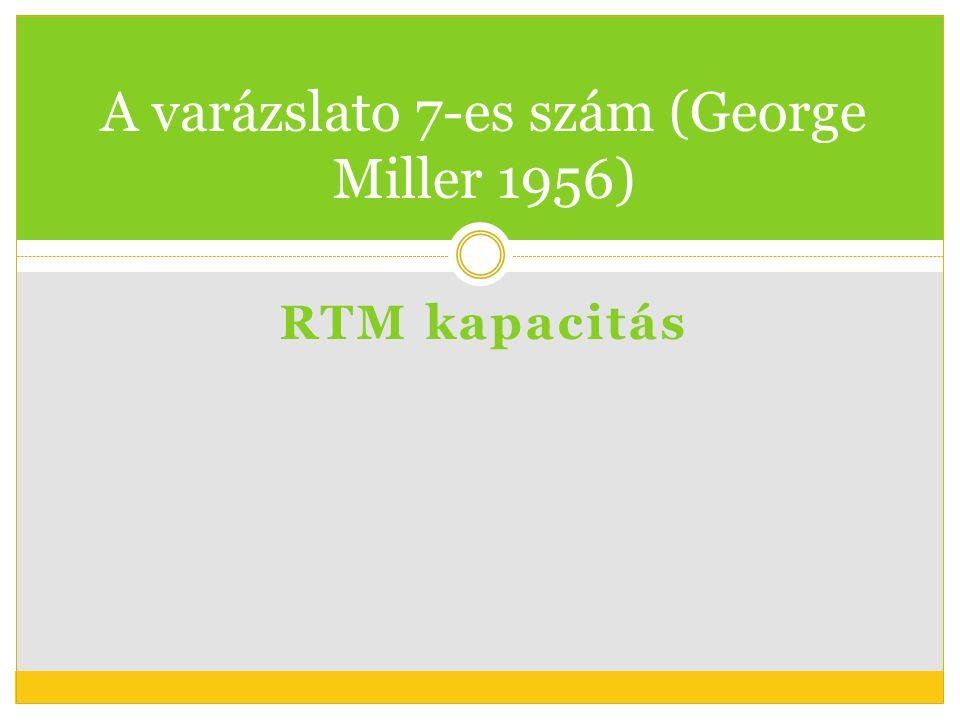 RTM kapacitás A varázslato 7-es szám (George Miller 1956)