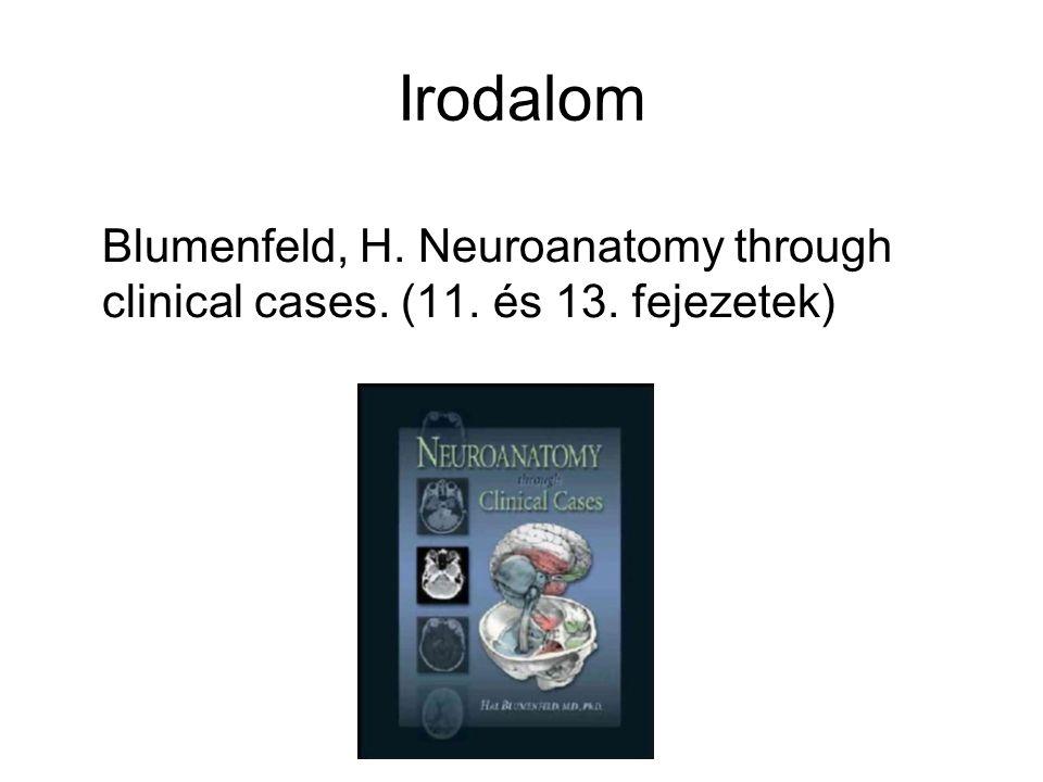 Irodalom Blumenfeld, H. Neuroanatomy through clinical cases. (11. és 13. fejezetek)