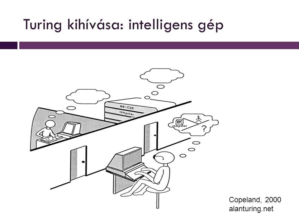 Turing kihívása: intelligens gép Copeland, 2000 alanturing.net