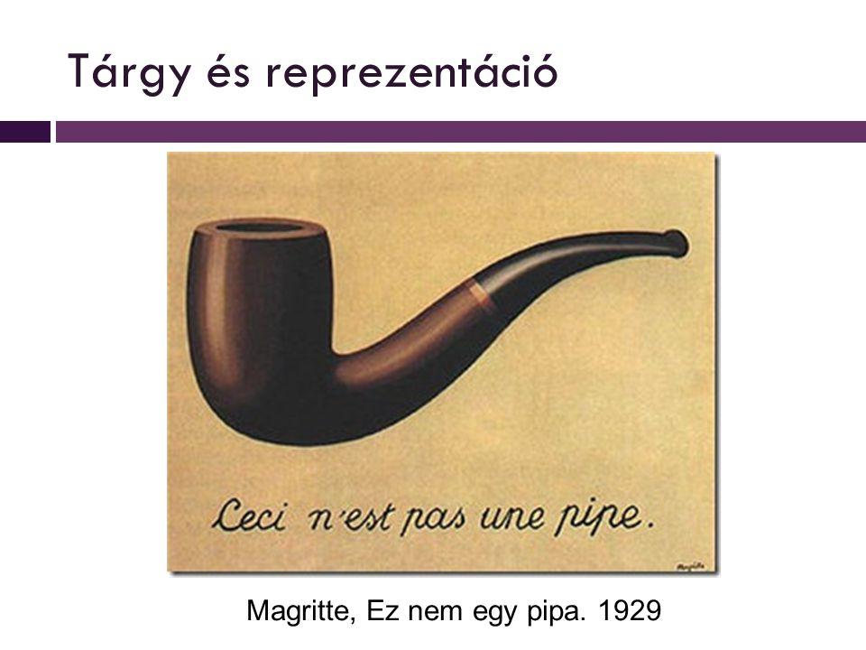 Tárgy és reprezentáció Magritte, Ez nem egy pipa. 1929