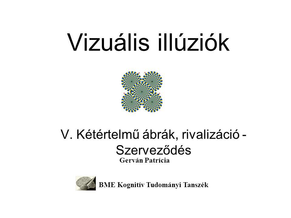 Vizuális illúziók V. Kétértelmű ábrák, rivalizáció - Szerveződés Gerván Patrícia BME Kognitív Tudományi Tanszék
