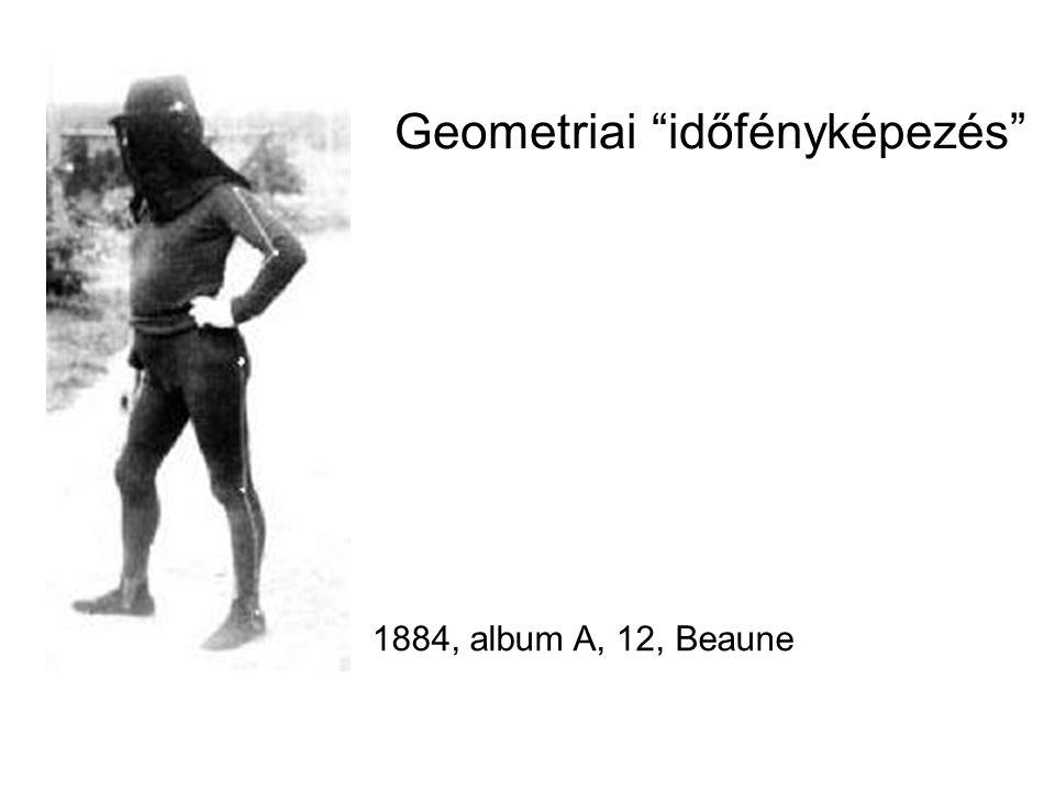 """1884, album A, 12, Beaune Geometriai """"időfényképezés"""""""